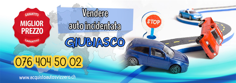 Vendere auto incidentata in Giubiasco